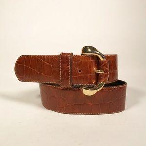 Furla Light Brown Beautiful Pressed Leather Belt